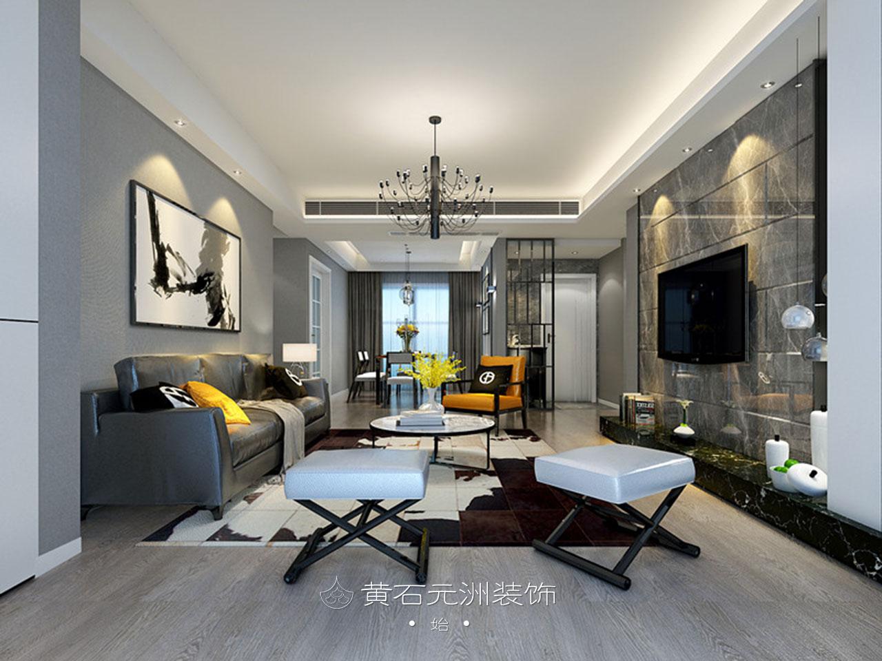 元洲案例丨120㎡现代简约美宅,细节诠释生活